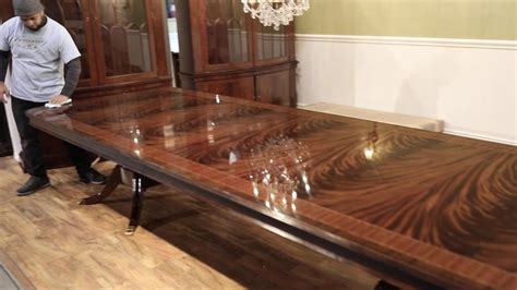large mahogany dining table seats    people youtube