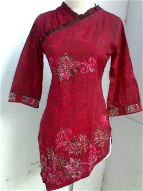 Blouse Rok Batik Serasi koleksi model baju batik atasan wanita lengan panjang