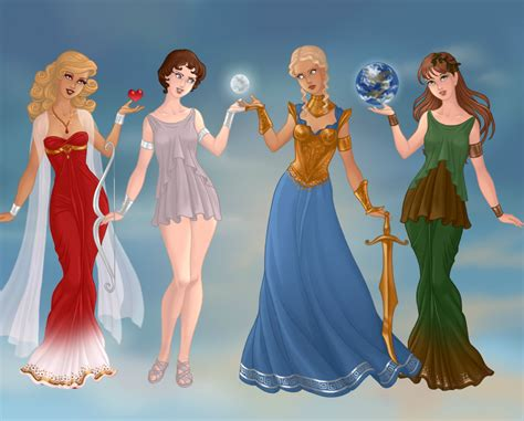 did athena get along with the other gods aphrodite artemis athena and demeter by kellyschot on
