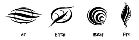 4 elemental symbols 2 tribal by zeldaboyz on deviantart