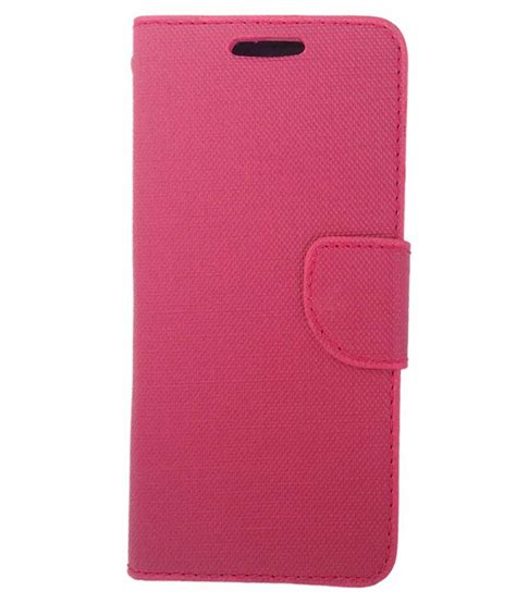 Zagbox Flip Cover Oppo F1 Pink oppo f1 flip cover premium synthetic leather pink