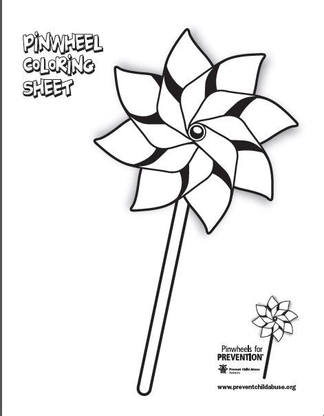 coloring pages for child abuse prevention pinwheel coloring sheet oregon start association