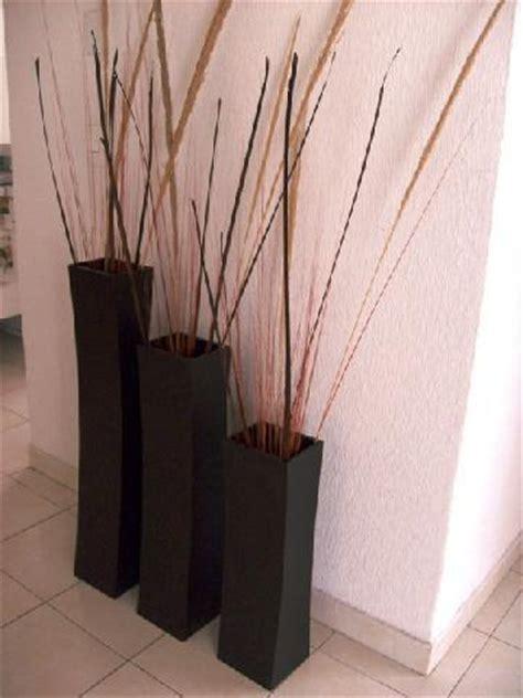 floreros largos de madera decorar con jarrones blogdecoraciones