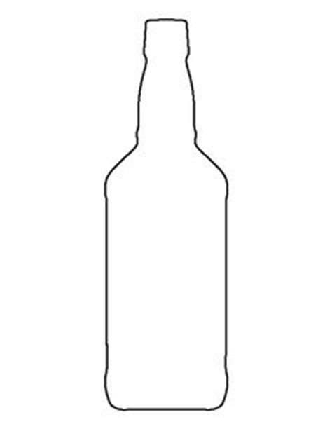 beer bottle pattern use the printable outline for crafts