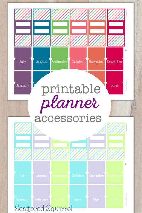 pretty printable planner accessories personal planners