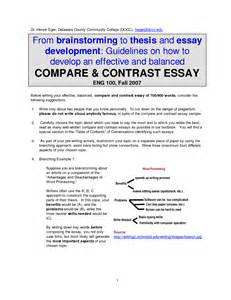 Compare Contrast Essay Exles by Well Written College Essays Exle