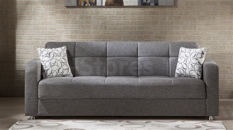 vision diego gray sofa sleeper sofa beds 523 09 0