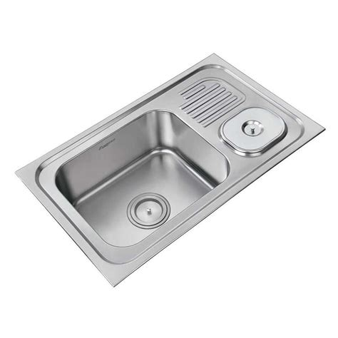 stainless steel sink with drainboard price buy anupam stainless steel single bowl sink with