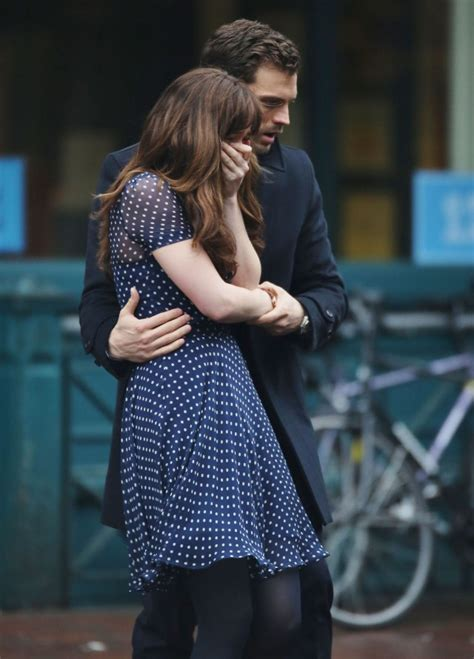 fifty shades darker filming video dakota johnson and jamie dornan spotted filming fifty