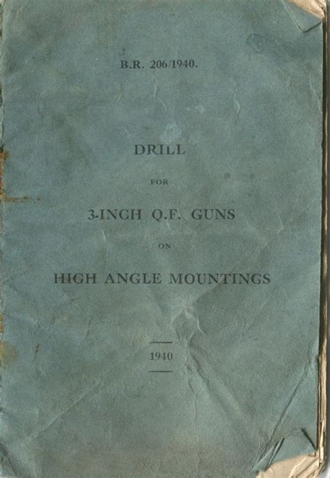 Cardy Angle drill manual for 3 inch q f guns on high angle mounts