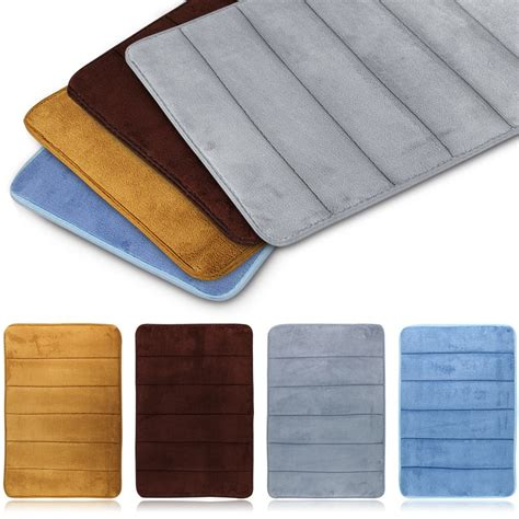 Bathtub Padded Mat by Memory Foam Carpet Absorbent Non Slip Pad Bathroom Entrance Rugs Mats Bath Mat Ebay