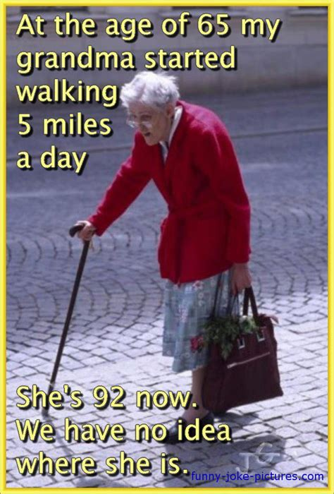 walking grandma missing meme funny joke pictures
