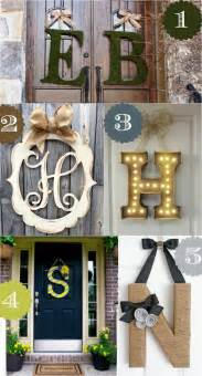 Decorating Ideas With Initials 36 Creative Front Door Decor Ideas Not A Wreath Home