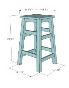 How To Build A Wooden Bar Stool White Simplest Stool Diy Projects