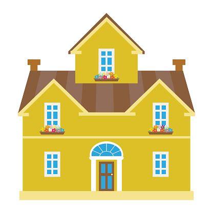 house cartoon vector illustration stock illustration