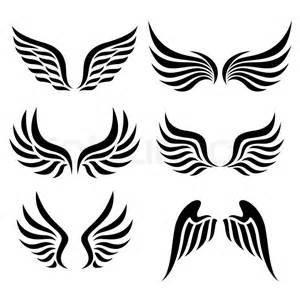 Set Sayap wings set vector stock vector colourbox