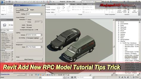 revit tutorial modelling revit add new rpc model tutorial tips trick youtube