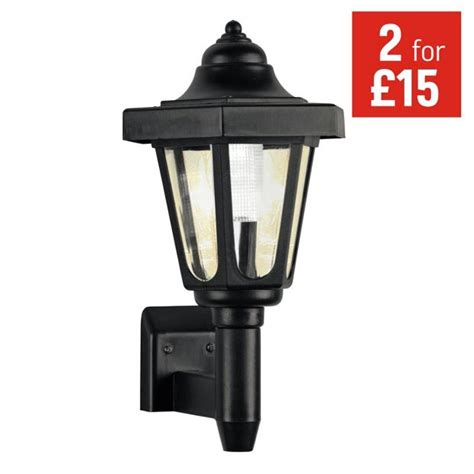 argos lights outdoor buy home black solar outdoor wall light at argos co uk