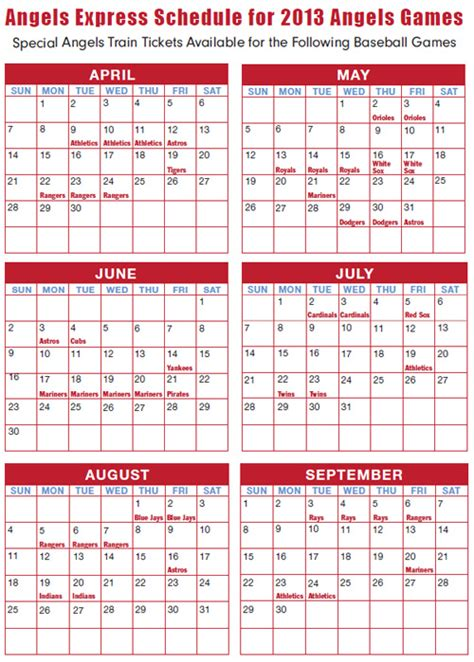 Angels Schedule Giveaways - orange county transportation authority