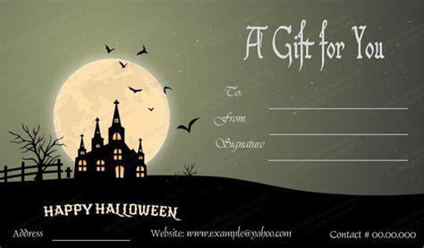 Halloween Gift Card Template - halloween gift card template 1 create halloween certificates