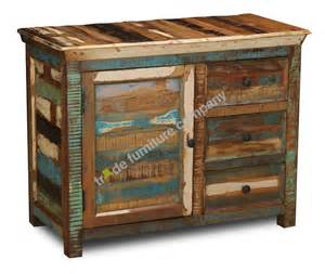 reclaimed indian wood small sideboard
