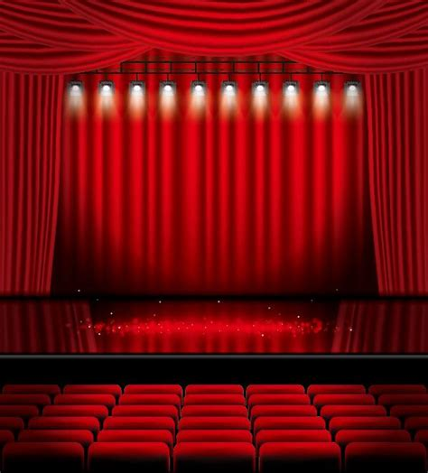 free stage background design vector stage and red curtain vector background 11 vector