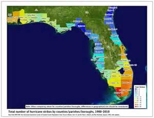 hurricane map florida florida hurricane strikes 1900 2010