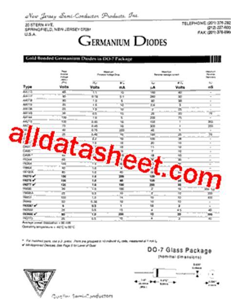 aa118 diode datasheet aa118 datasheet pdf new jersey semi conductor products inc