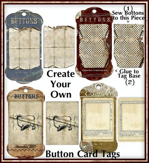 button cards make your own create your own primitive button card tags kit digital u