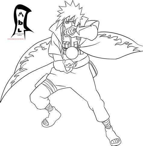 anime naruto coloring pages luiscachog me naruto 519 yondaime lineart by maximilliousblaze on