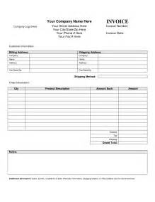 www template invoice template blank printable invoice template