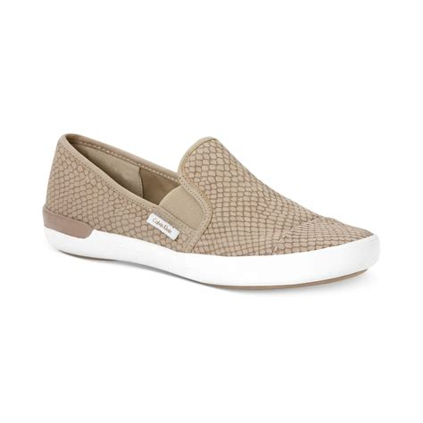 beige sneakers for calvin klein womens tacie sneakers in beige for