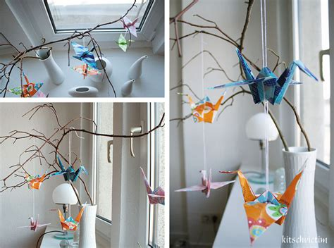 origami home decor spring decoration tutorial origami paper cranes from