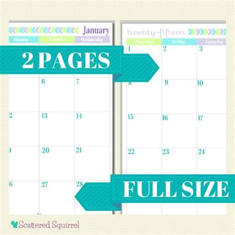2 page monthly calendar template 2015 calendar printables you asked i m answering large
