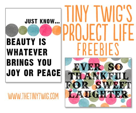 printable quotes for project life project life cards printable
