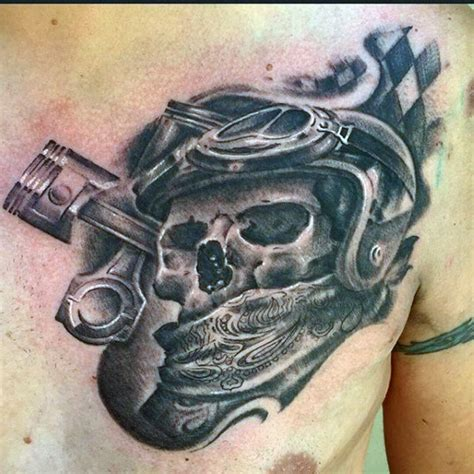 60 motorcycle tattoos for men two wheel design ideas