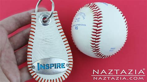 DIY Learn How to Make a Baseball Key Chain from a Base Ball Keychain Craft Tutorial   YouTube