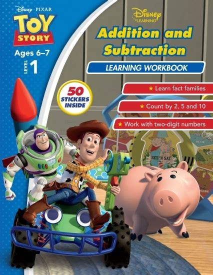 Disney Learning Story Addition Substraction product disney story addition and subtraction learning workbook level 1 book school