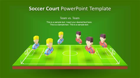 3d soccer pitch powerpoint template 3d animated soccer court powerpoint template slidemodel