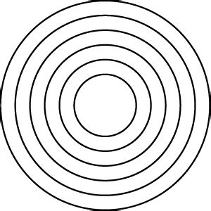 Series Sg022 Segment 022 Layered Concentric Circles Concentric Circle Template