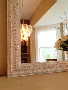 white chalk paint shabby chic mantle and chalk paint mirror on pinterest