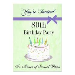 80th birthday personalized invitation 5 quot x 7 quot invitation card zazzle