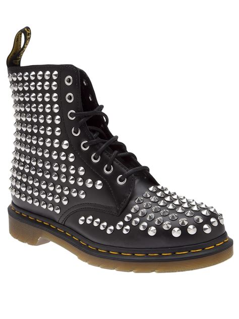 spiked mens boots dr martens spiked boot in black for lyst