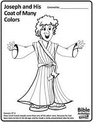 Joseph printable coloring sheet bible joseph and coat of many c