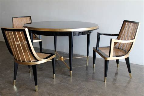 lacquer dining room sets gold leaf and black lacquer dining set by arturo pani