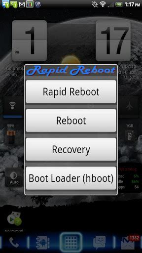 reboot recovery apk rapid button may not work on stock 2 2 use a custom rom