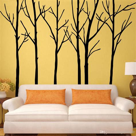 enchanting big wall decals for bedroom also large tree decal forest decor vinyl ideas pictures