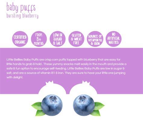 Bellies Baby Puffs bellies organic baby puffs blueberry 12g
