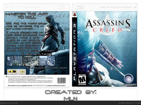 amazoncom assassins creed playstation 3 artist not assassin s creed playstation 3 box art cover by mln