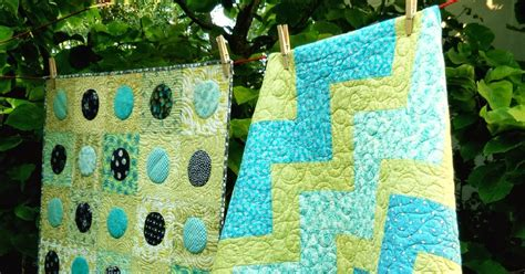 Aqua Quilt by Busy Bee No 16 Aqua Blue And Lime Green And Two